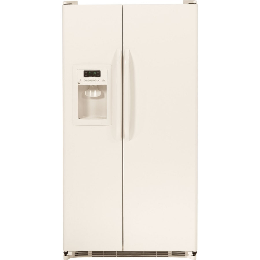 GE 25.25-cu ft Side-by-Side Refrigerator with Single Ice Maker (Bisque)