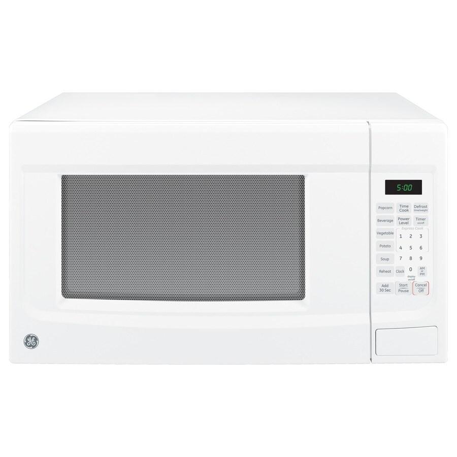 GE 1.4-cu ft 1,100-Watt Countertop Microwave (White)
