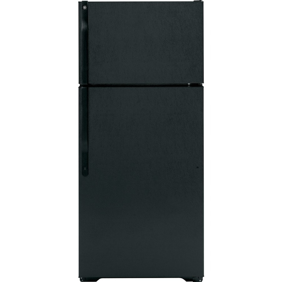 GE 16.5-cu ft Top-Freezer Refrigerator (Black) ENERGY STAR