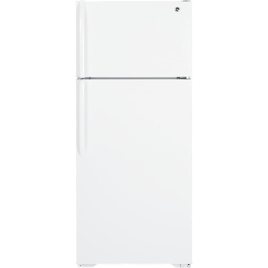 GE 18.1-cu ft Top-Freezer Refrigerator with Single Ice Maker (White)
