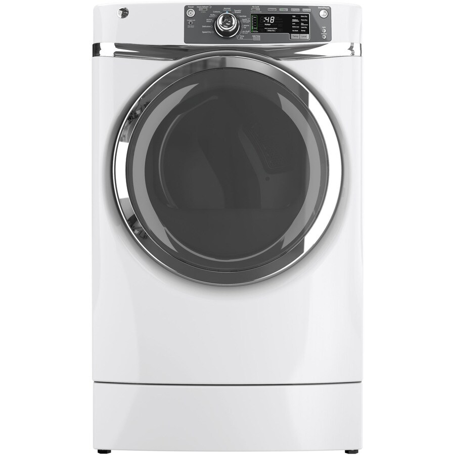 Shop Ge 8 3 Cu Ft Gas Dryer With Steam Cycle White At