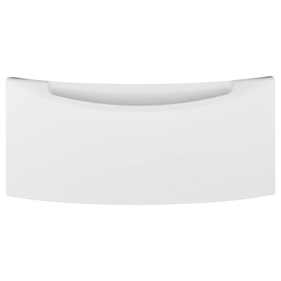 GE 13-in x 27.875-in White Laundry Pedestal with Storage Drawer