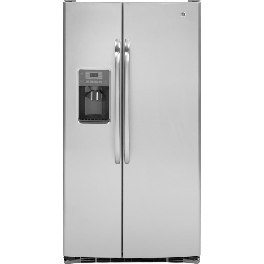 GE 25.9-cu ft Side-by-Side Refrigerator with Single Ice Maker (Stainless Steel) ENERGY STAR
