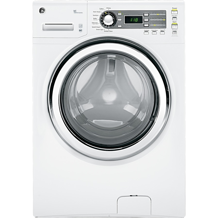 GE 4.1-cu ft High-Efficiency Front-Load Washer with Steam Cycle (White) ENERGY STAR