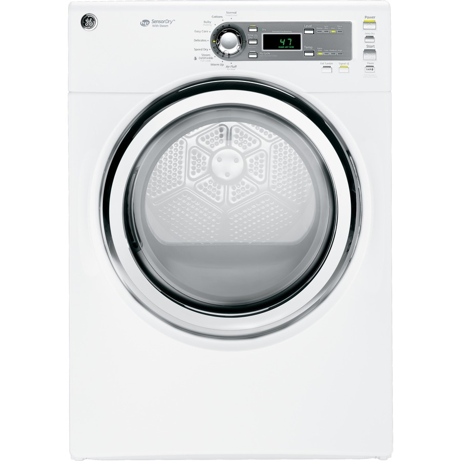 GE 7 cu ft Stackable Electric Dryer (White)