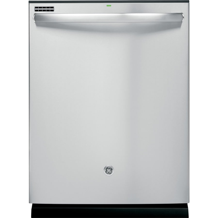 GE 48-Decibel Built-In Dishwasher with Hard Food Disposer (Stainless Steel) (Common: 24-in; Actual: 23.75-in)