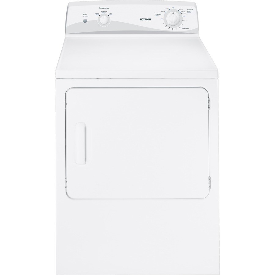 Hotpoint 6-cu ft Gas Dryer (White)