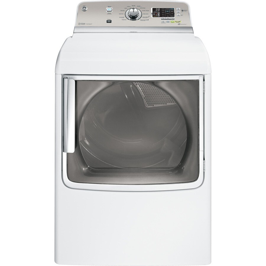 GE 7.8-cu ft Electric Dryer with Steam Cycle (White)