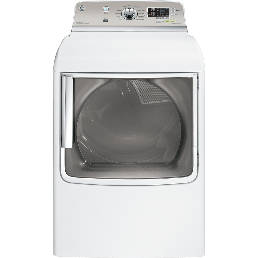 GE 7.8-cu ft Gas Dryer with Steam Cycle (White)