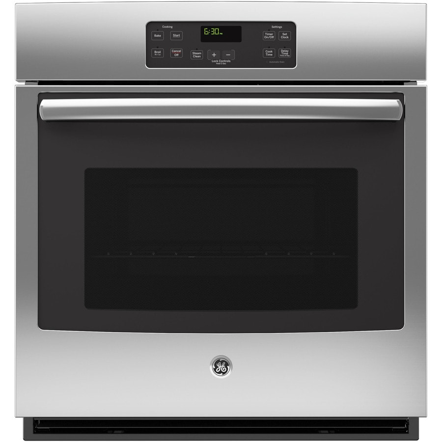 Oven Baking Element >> Shop GE Single Electric Wall Oven (Stainless Steel) (Common: 27-in; Actual: 26.718-in) at Lowes.com
