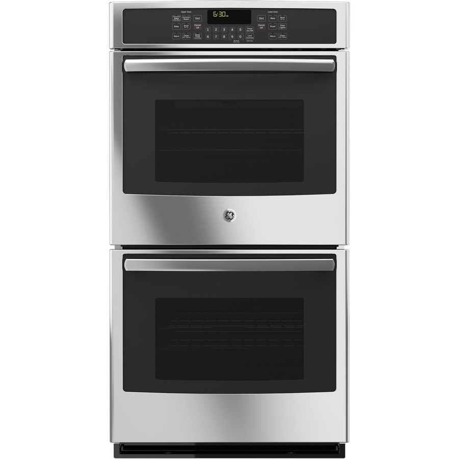 GE Self-Cleaning Convection Double Electric Wall Oven (Stainless Steel) (Common: 27-in; Actual: 26.71-in)