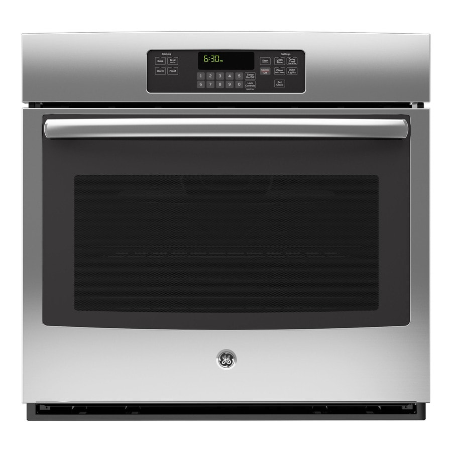 GE Self-Cleaning with Steam Single Electric Wall Oven (Stainless Steel) (Common: 30-in; Actual 29.75-in)
