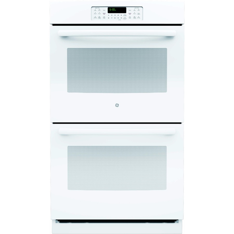 GE Self-Cleaning Double Electric Wall Oven (White) (Common: 30-in; Actual: 29.75-in)