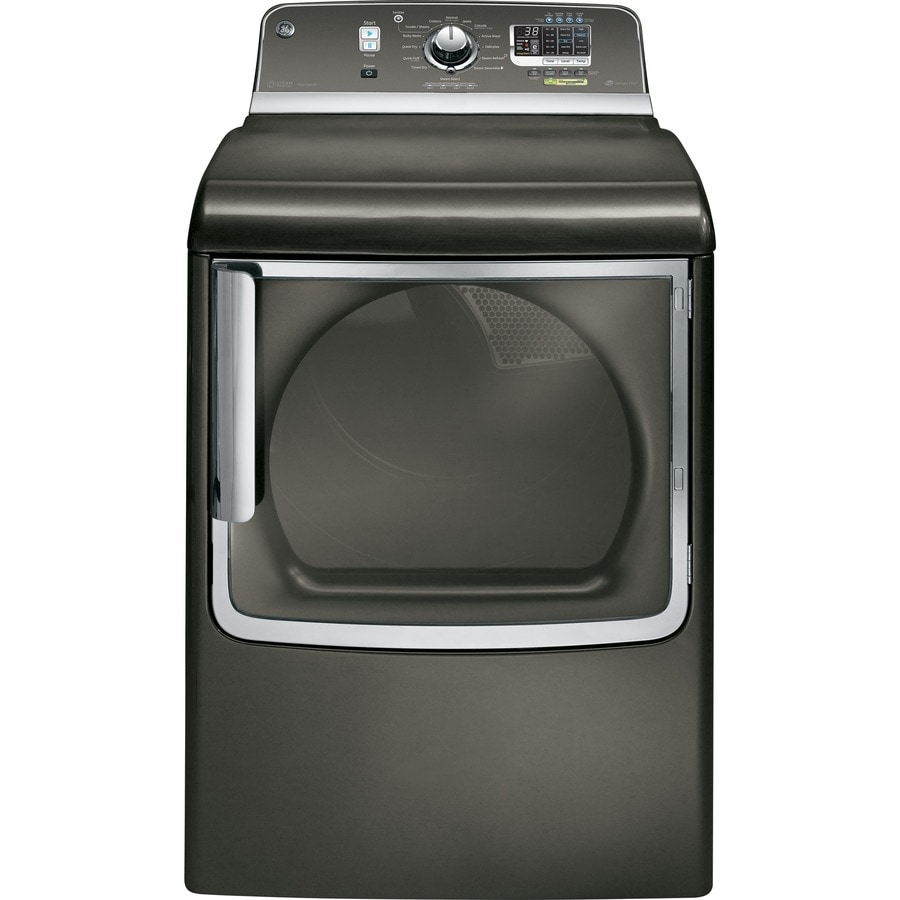 GE 7.8-cu ft Gas Dryer with Steam Cycle (Metallic Carbon)