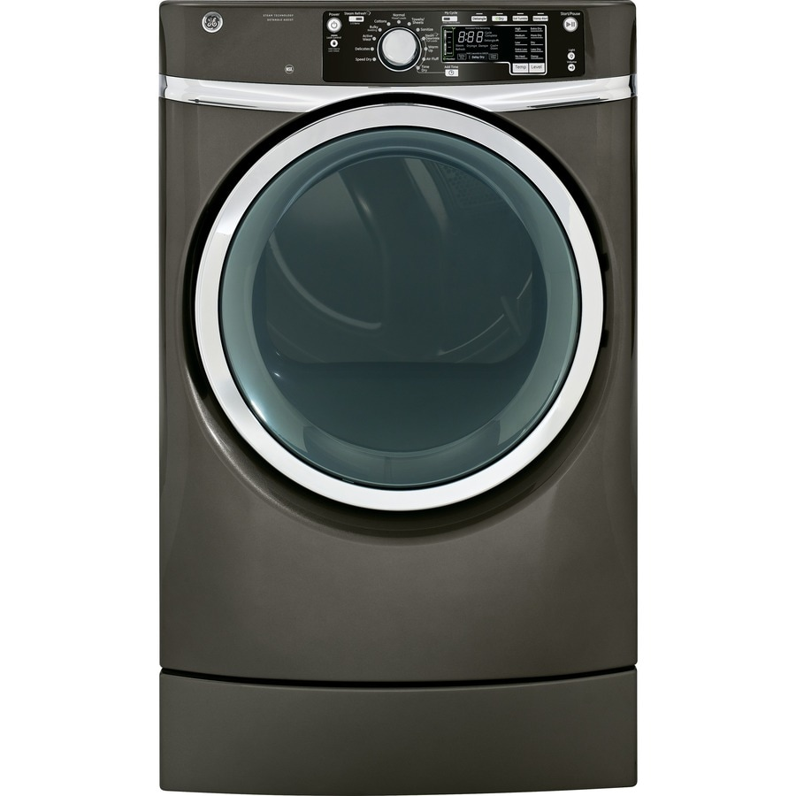 GE 8.3-cu ft Electric Dryer with Steam Cycle (Metallic Carbon)