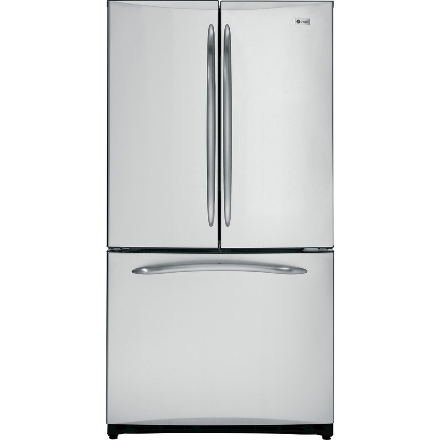 GE Profile 20.7-cu ft Bottom Freezer Counter-Depth Refrigerator with Single Ice Maker (Stainless Steel)