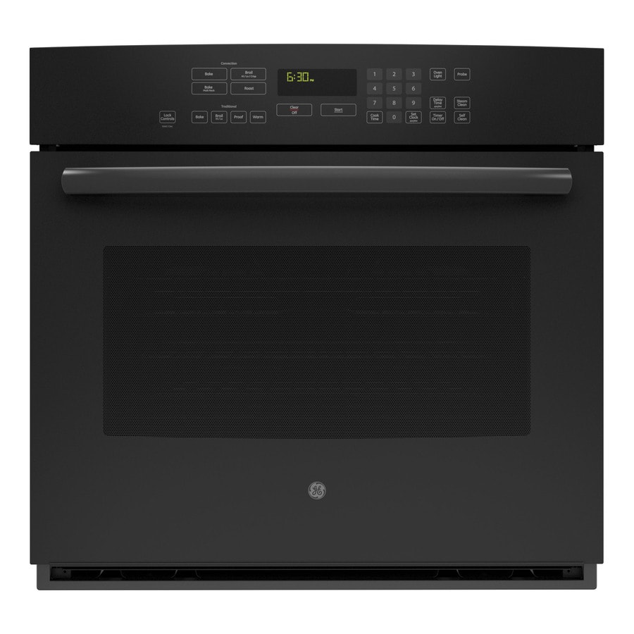 GE Profile Self-Cleaning with Steam Convection Single Electric Wall Oven (Black) (Common: 30-in; Actual 29.75-in)