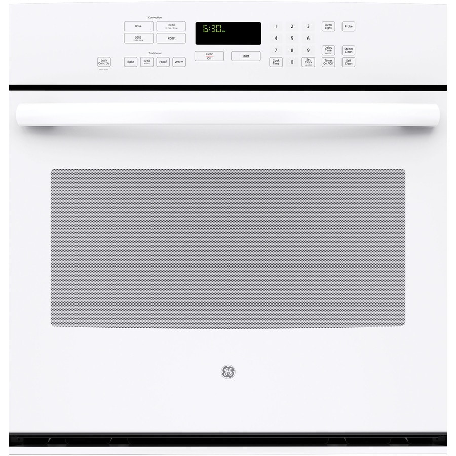 GE Profile Self-Cleaning with Steam Convection Single Electric Wall Oven (White) (Common: 30-in; Actual 29.75-in)