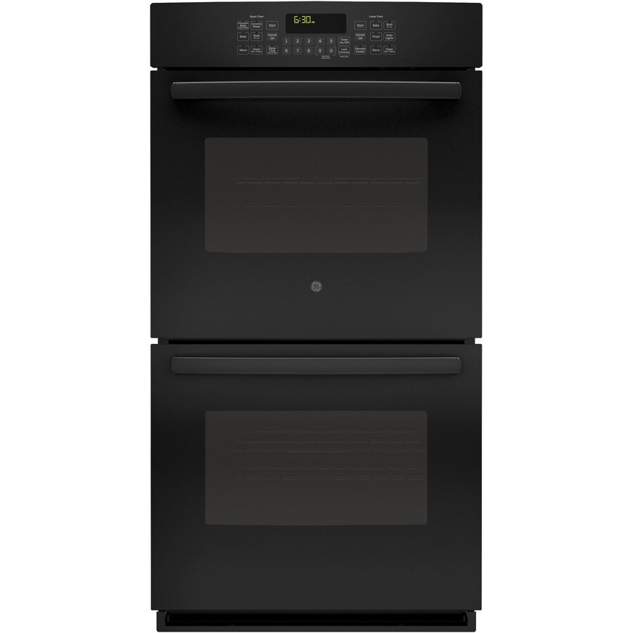 GE Profile Self-Cleaning Convection Double Electric Wall Oven (Black) (Common: 27-in; Actual: 26.71-in)