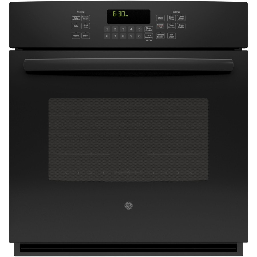 GE Profile Self-Cleaning with Steam Convection Single Electric Wall Oven (Black) (Common: 27-in; Actual 26.71875-in)