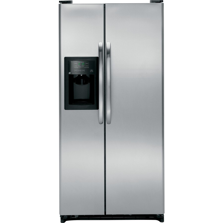 Shop GE 20-cu ft Side-by-Side Refrigerator with Single Ice ...