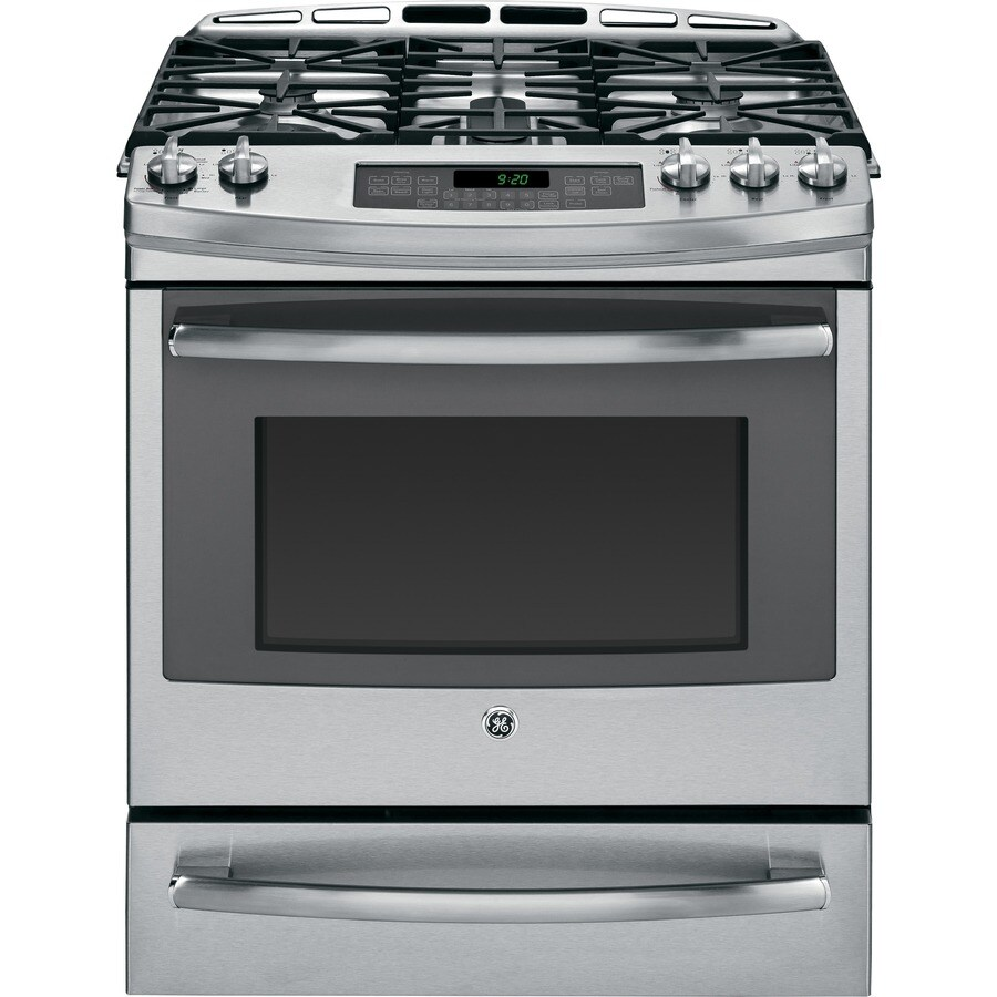 GE Profile 5-Burner Self-Cleaning Convection Single Oven Dual Fuel Range (Stainless Steel) (Common: 30-in; Actual 30-in)