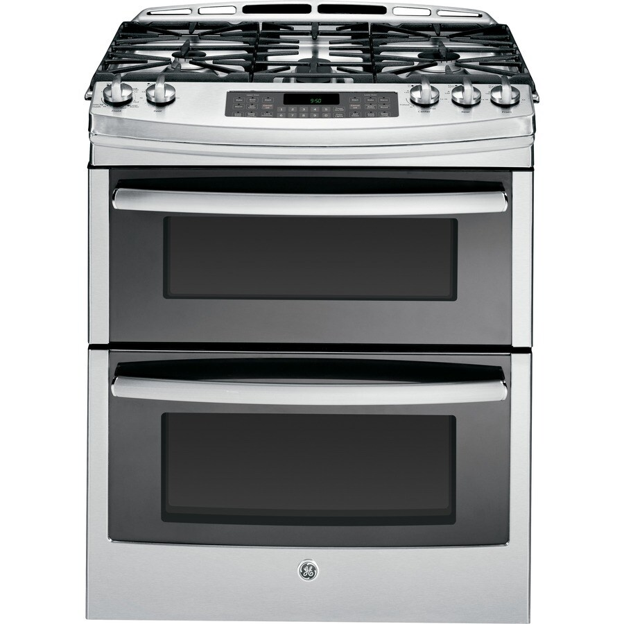 GE Profile 5-Burner 6.8-cu ft Slide-In Convection Gas Range (Stainless Steel) (Common: 30-in; Actual 30-in)