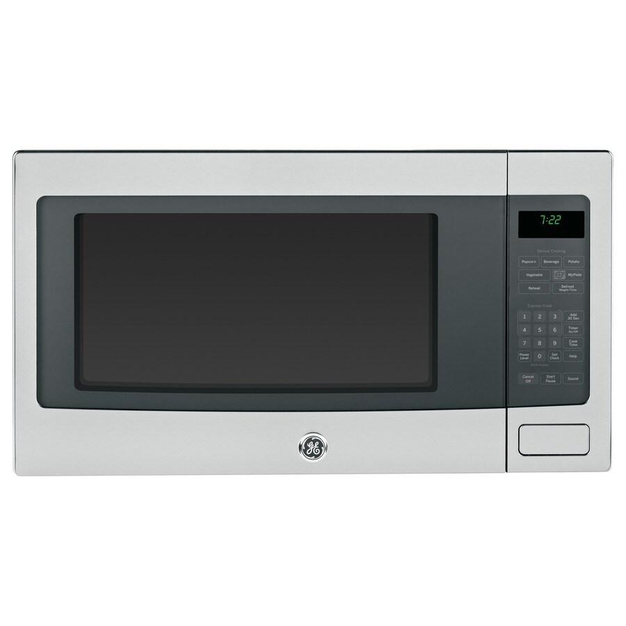 GE Profile 2.2-cu ft 1,100-Watt Countertop Microwave (Stainless Steel)