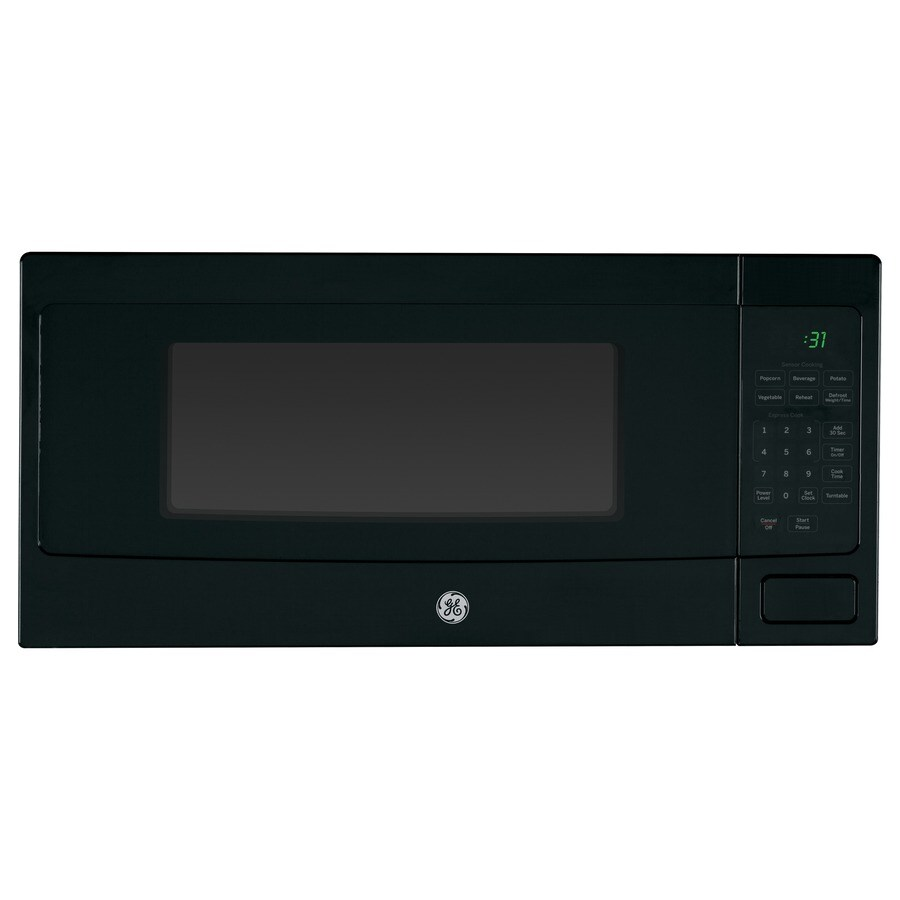 Shop GE Profile 1.1-cu ft 800-Watt Countertop Microwave (Black) at ...