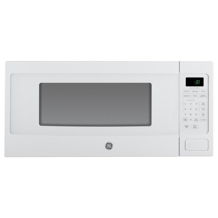 GE Profile 1.1-cu ft 800-Watt Countertop Microwave (White)