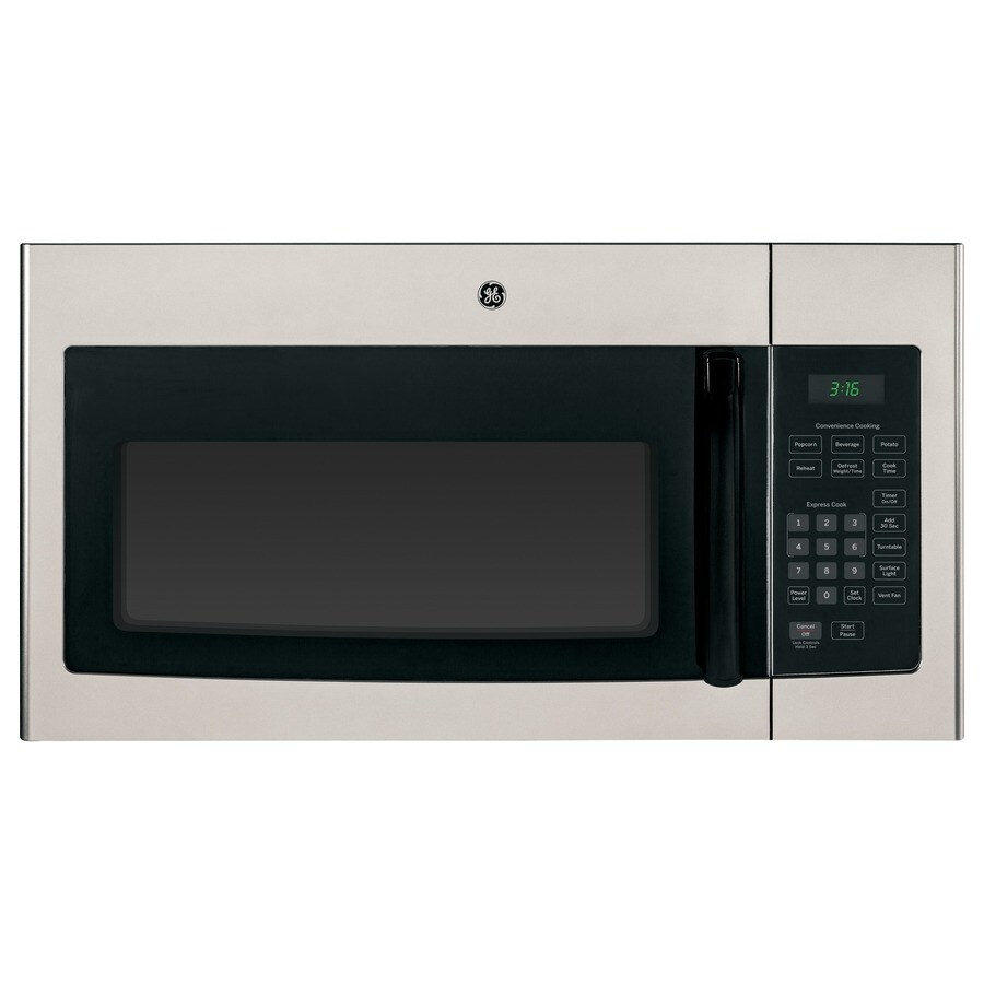 GE 1.6-cu ft Over-the-Range Microwave (Silver) (Common: 30-in; Actual: 29.875-in)