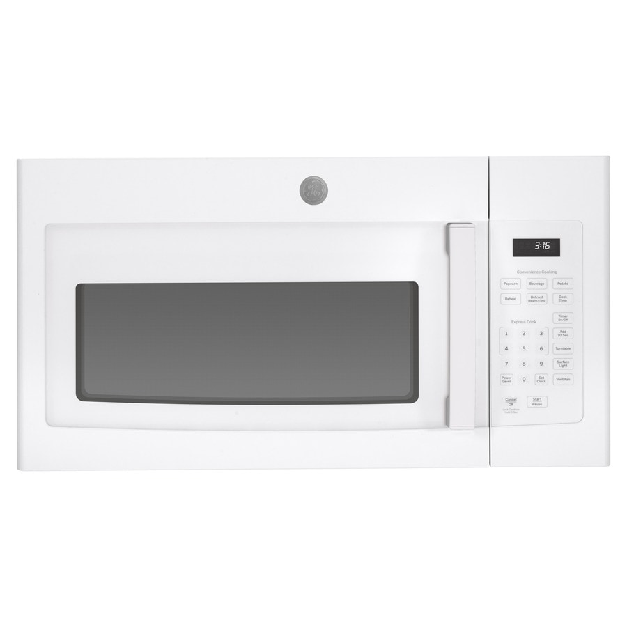 GE 1.6-cu ft Over-The-Range Microwave (White) (Common: 30-in; Actual: 29.87-in)