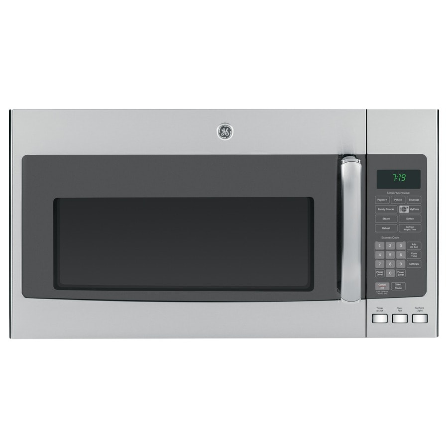 GE 1.9-cu ft Over-the-Range Microwave with Sensor Cooking Controls (Stainless) (Common: 30-in; Actual: 29.75-in)