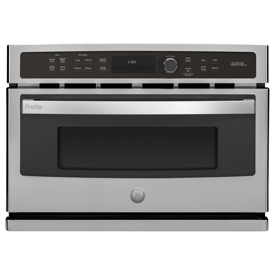 GE Profile Advantium Convection Single Electric Wall Oven Speed Cook (Stainless Steel) (Common: 27-in; Actual 26.75-in)