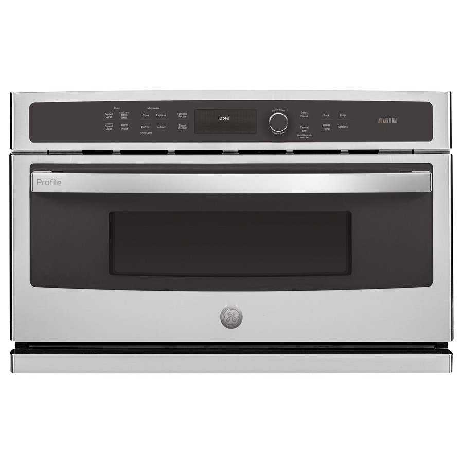 GE Profile Advantium Convection Single Electric Wall Oven Speed Cook (Stainless Steel) (Common: 30-in; Actual 29.75-in)