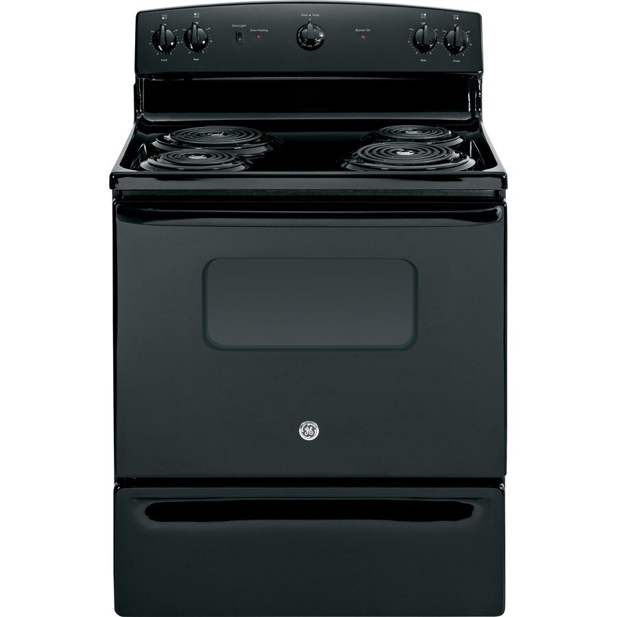 GE Freestanding 5-cu ft Electric Range (Black) (Common: 30-in; Actual: 29.87-in)