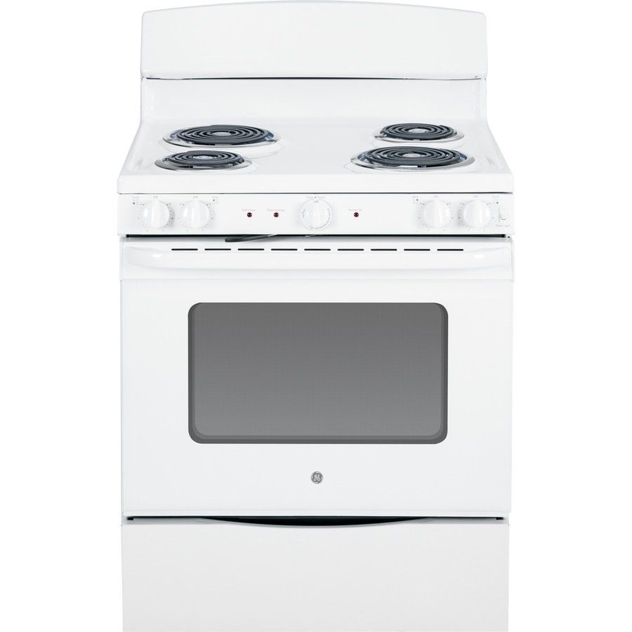 GE Freestanding 5-cu ft Self-Cleaning Electric Range (White) (Common: 30-in; Actual: 29.87-in)