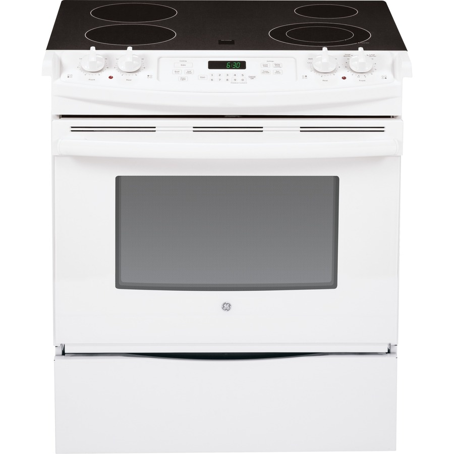 GE Smooth Surface Slide-In Electric Range (White) (Common: 30-in; Actual 31.25-in)