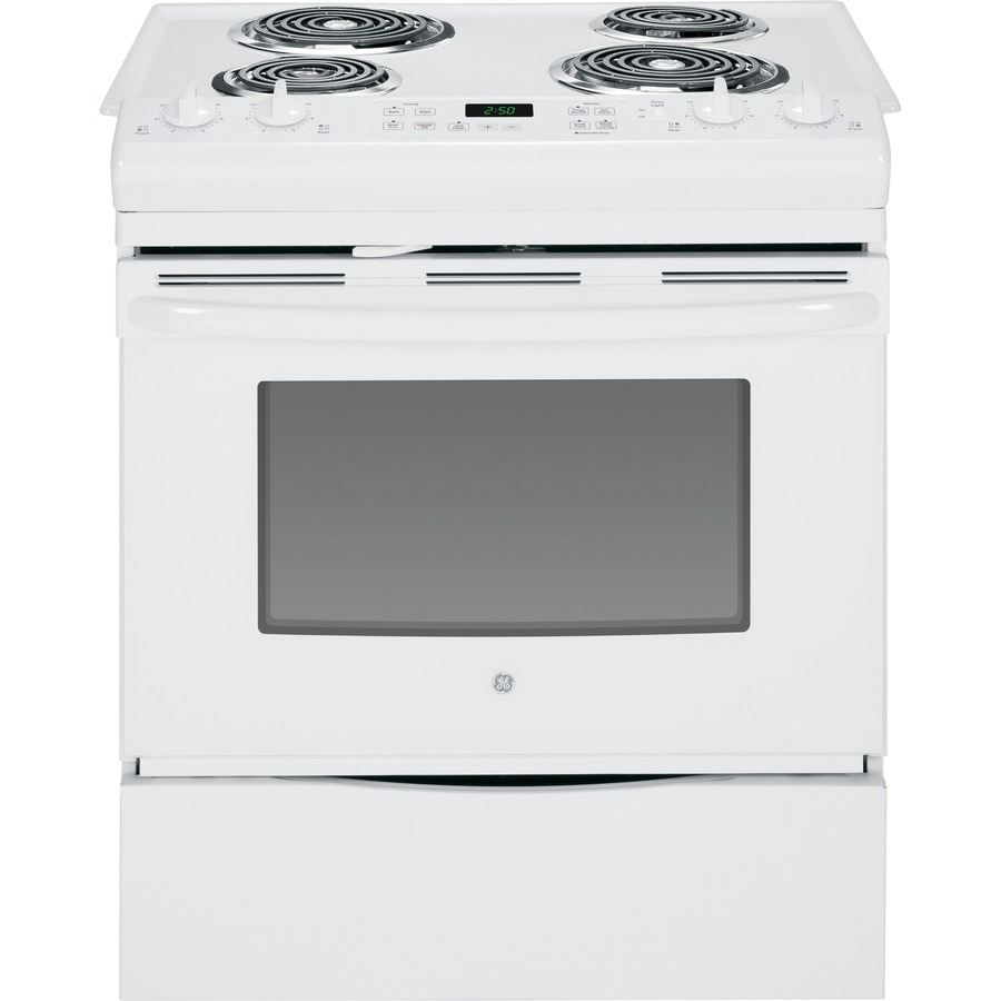 Shop Ge Slide In Electric Range White Common 30 In