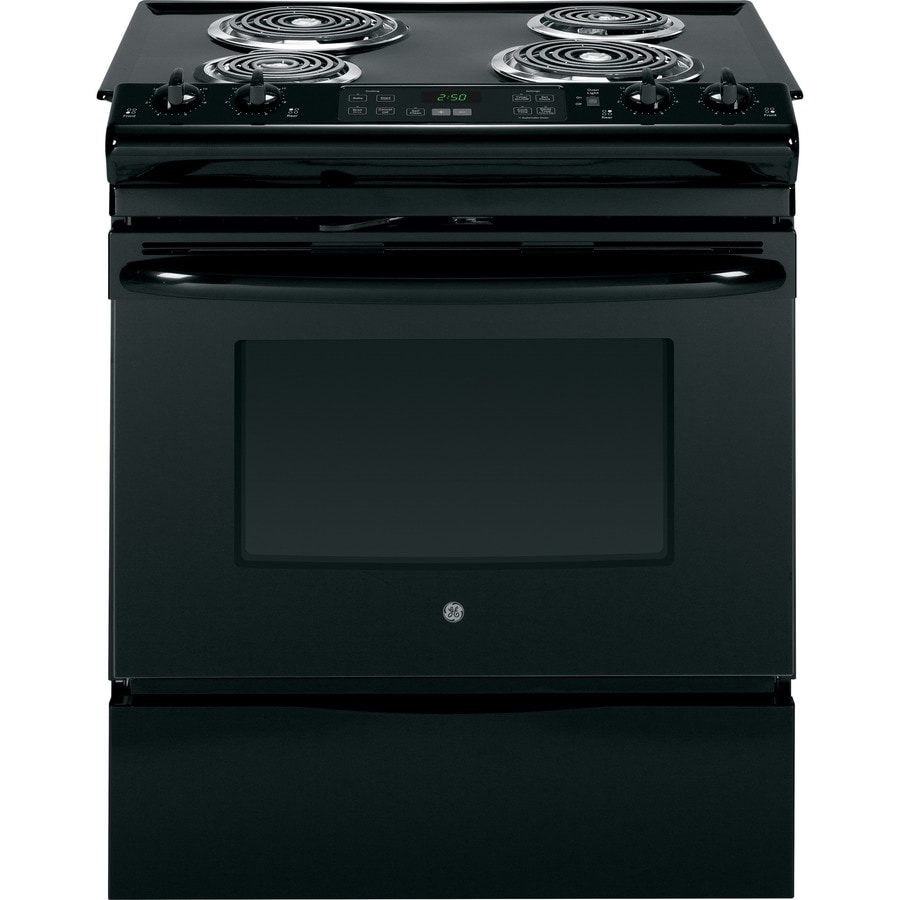 Shop Ge Slide In Electric Range Black Common 30 In