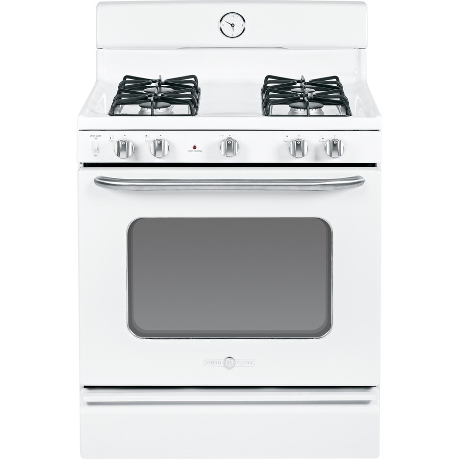GE Artistry Freestanding 4.8-cu ft Gas Range (White) (Common: 30-in; Actual: 30-in)