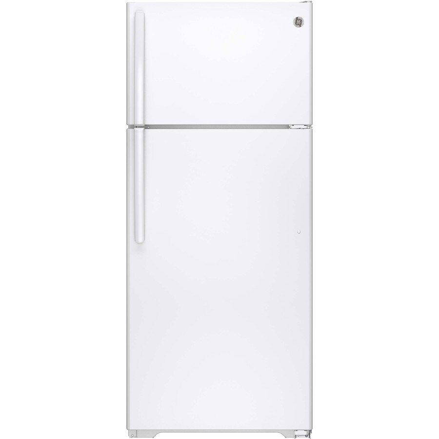 GE 17.5-cu ft Top-Freezer Refrigerator (White) ENERGY STAR
