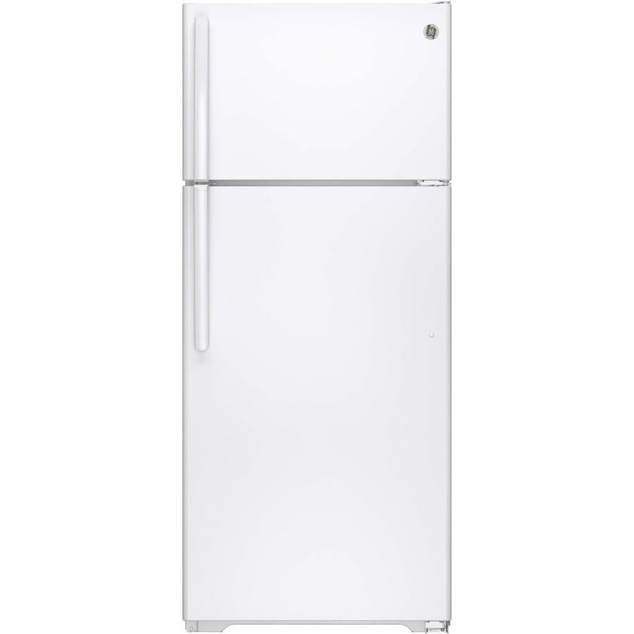 GE 17.5-cu ft Top-Freezer Refrigerator with Single Ice Maker (White) ENERGY STAR