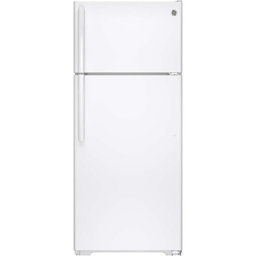 GE 17.5-cu ft Top-Freezer Refrigerator (White)