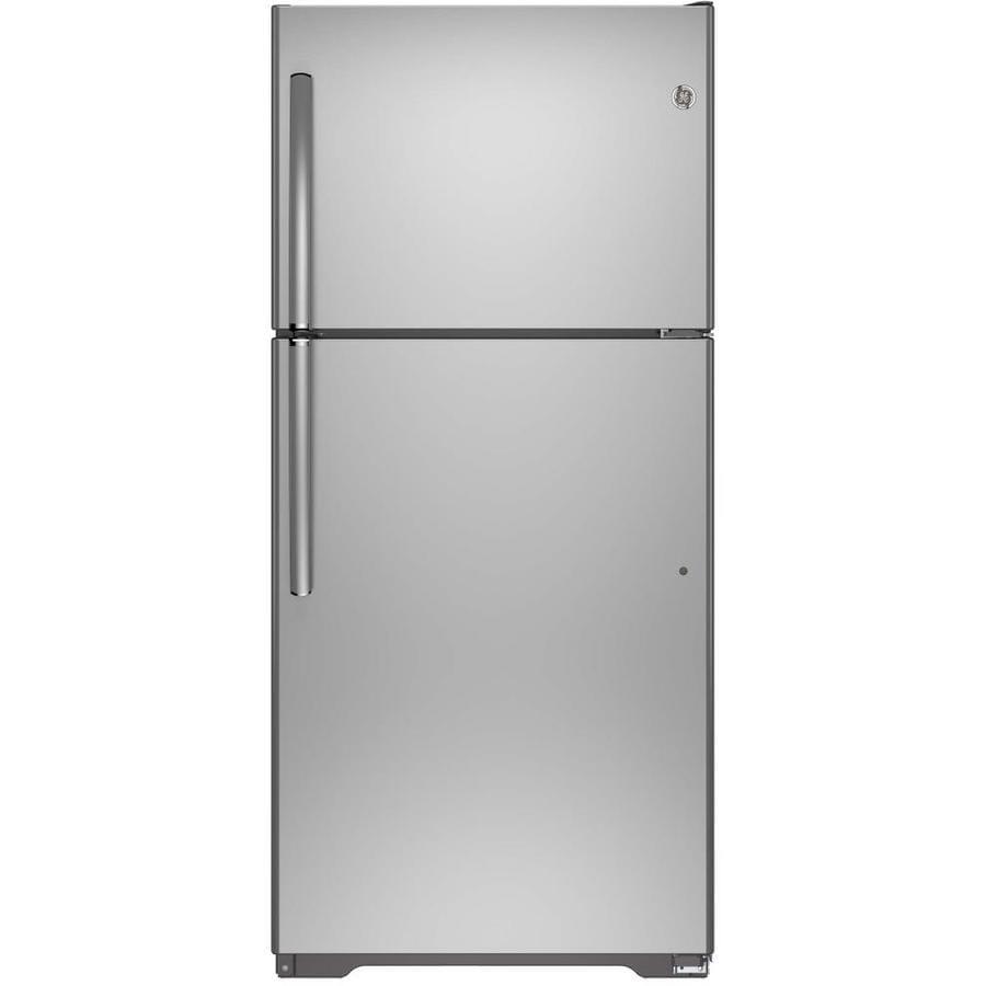 GE 18.2-cu ft Top-Freezer Refrigerator (Stainless Steel) ENERGY STAR