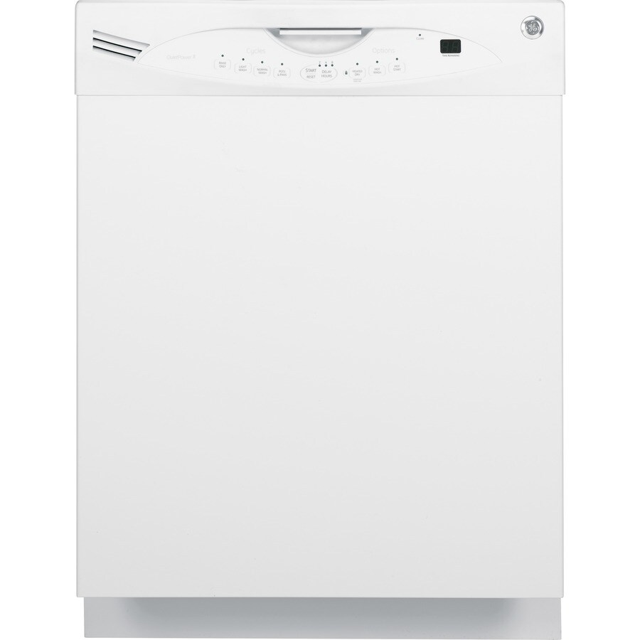 GE 56-Decibel Built-In Dishwasher with Hard Food Disposer (White) (Common: 24-in; Actual: 24-in)