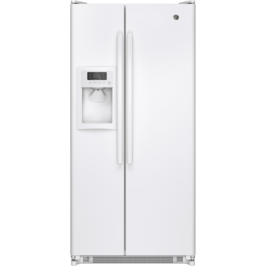 shop ge 20 cu ft side by side refrigerator with single ice. Black Bedroom Furniture Sets. Home Design Ideas