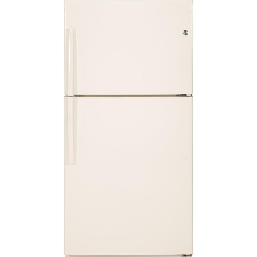 Shop Ge 21 2 Cu Ft Top Freezer Refrigerator Bisque