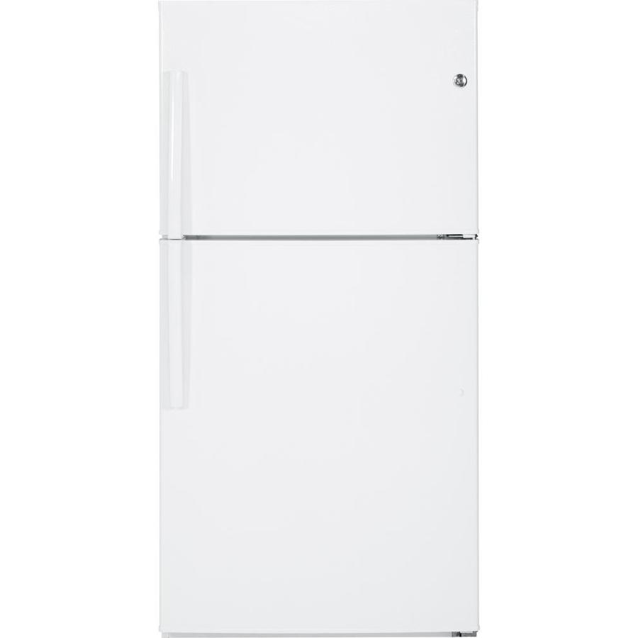 Shop Ge 21 2 Cu Ft Top Freezer Refrigerator With Single