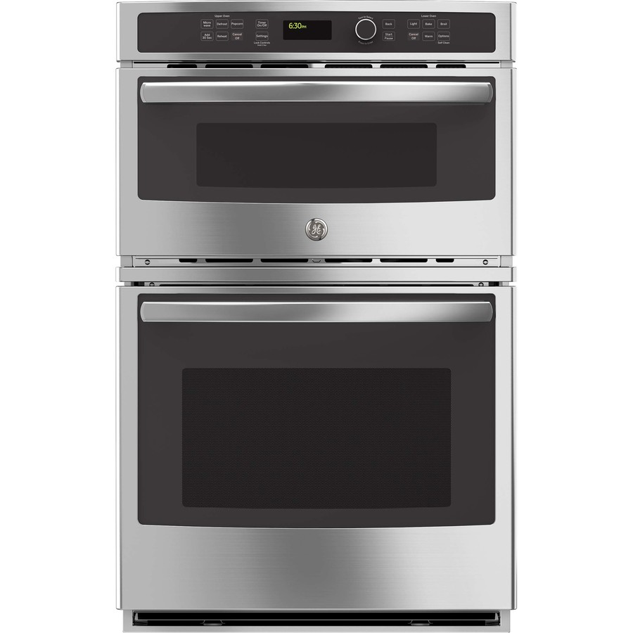 Shop Ge Self Cleaning With Steam Microwave Wall Oven Combo